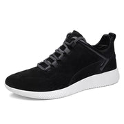 Men's Breathable Cowhide Wear Resistant Running Sneakers