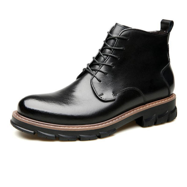 Men's New European And American Leather Trend Tooling Boots