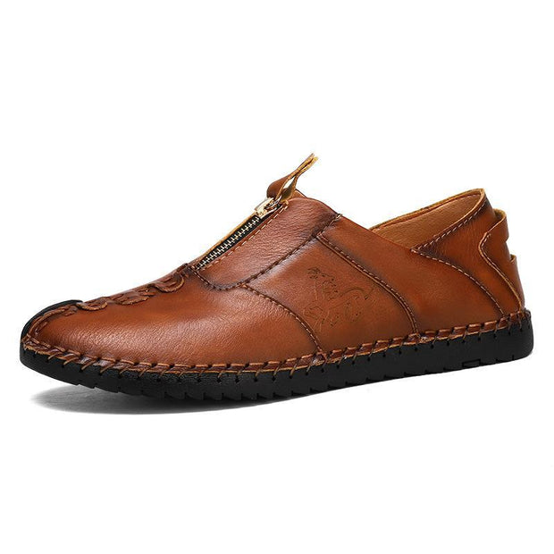 Men's Explosions Breathable Wear Spring And Summer England Outdoor Hand-Stitched Leather Shoes