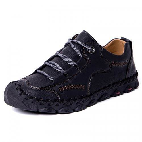 Men's Casual Breathable Outdoor Lace-up Hand Stitching Shoes