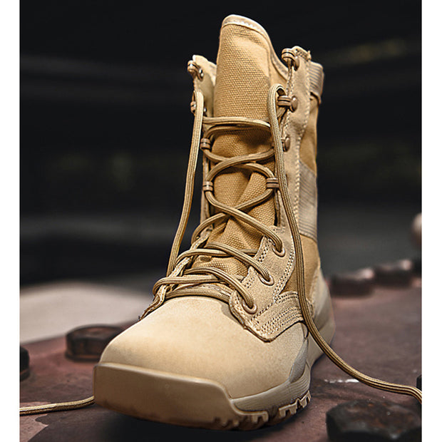 Men Outdoor Breathable Military Boots Hiking Shoes