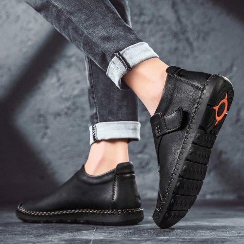 138095 Men's Slip-on Casual Shoes Fashion Stitching Design