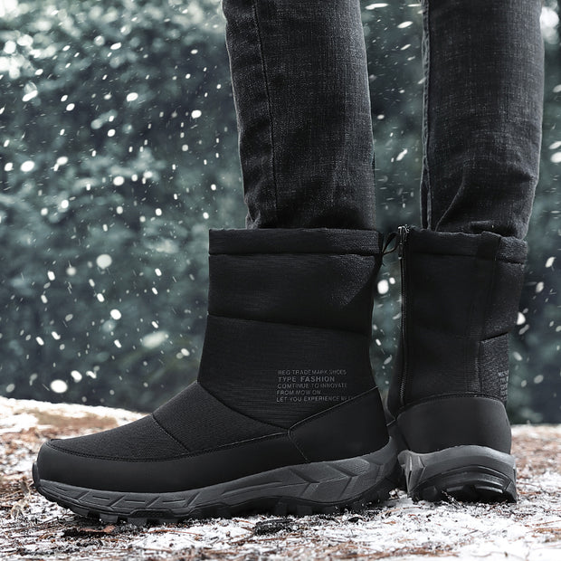 Winter Mens Boots Men Casual Fahsion Snow Men Ankle Boots Men Leather Boots For Men Shoes