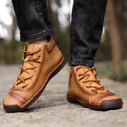 Winter plus velvet men's shoes large size outdoor casual shoes spring and autumn handmade leather boots