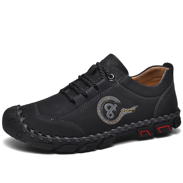 Men casual shoes comfortable breathe freely by hand stitching