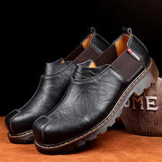 Men comfortable classic sewing recreational leather shoes