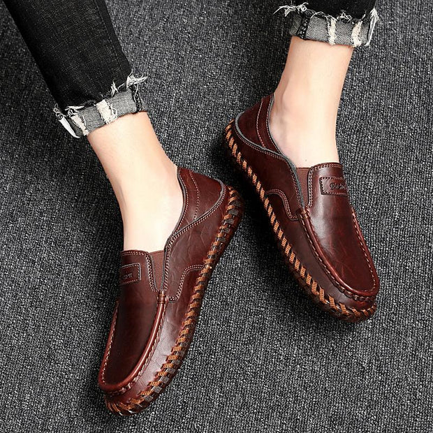 Men's leisure comfortable sewing leather shoes