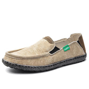 Men comfortable  recreational canvas shoes  retro slip-on shoe