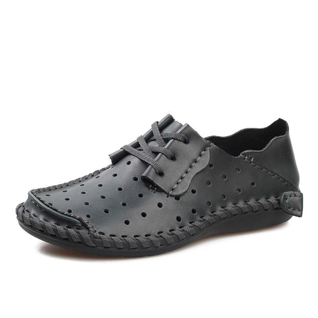 Men breathable joker comfortable recreational leather shoes