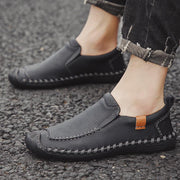Men breathe freely and comfortable recreational leather shoes