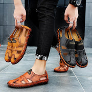 Men breathe freely and comfortable sandals recreational leather shoes