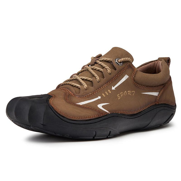 Men breathe freely and comfortable outdoor recreational leather shoes