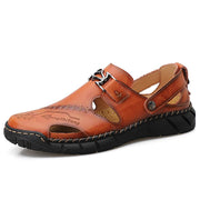Men's plus size sandals handmade leather casual shoes outdoor shoes