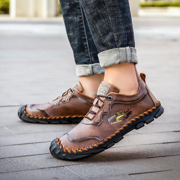 Men's retro handmade leather casual shoes