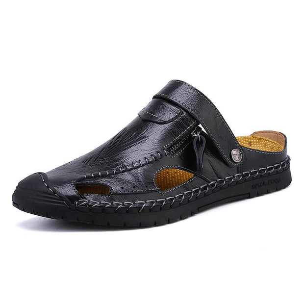 Men's Genuine leather outdoor handmade sandals casual shoes