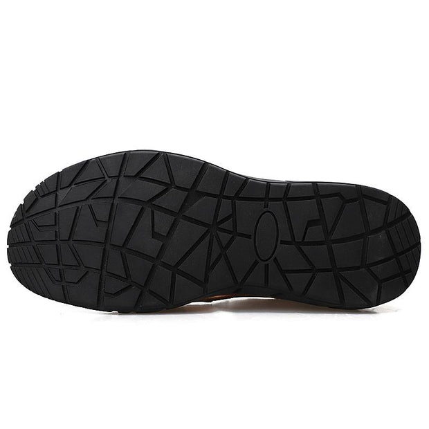 Men's Outdoor Plus Size Sandals Sports Shoes Handmade Leather Flats