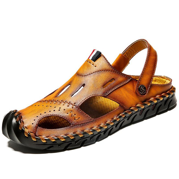Men's casual breathable sandals leather sandals