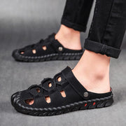 Man's big yards outdoor fashion slippers sandals shoes stitching