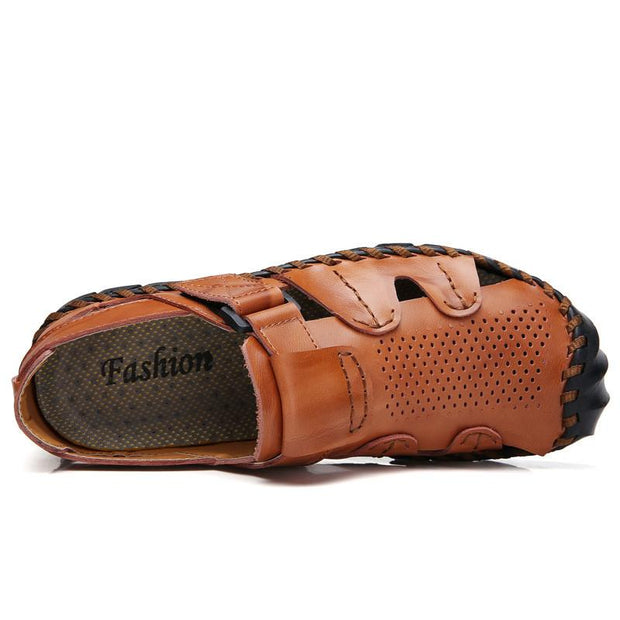 Men's sandals foreign trade large size hand-sewn beach shoes outdoor leisure
