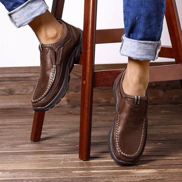 Men's Large-Size Hand-Stitching Non-Slip Slip-On Shoes