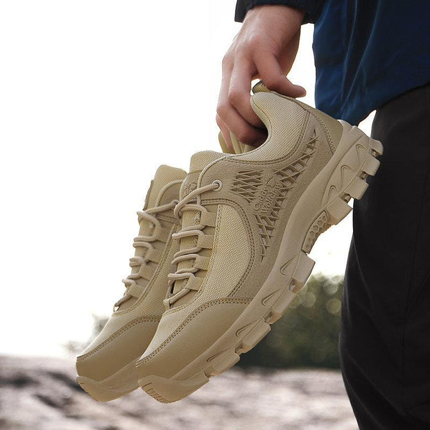 Men Pure Color Cloth Non Slip Outdoor Casual Hiking Sneakers