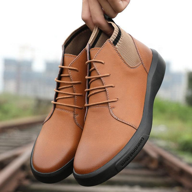Men Cow Leather Outdoor Waterproof Slip Resistant Ankle Boots