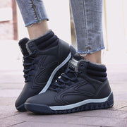 Women's Casual Warm Lining Non-slip Lace Up Boots