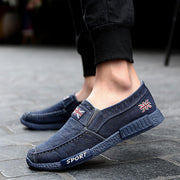 Men Comfy Washed Canvas Breathable Soft Slip On Casual Shoes