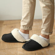 Men's Winter Slippers Indoor Pu Cotton Shoes