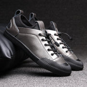 Men's summer leather casual business low-top shoes