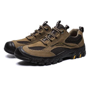 139186  Men's leather mesh non-slip hiking sneakers