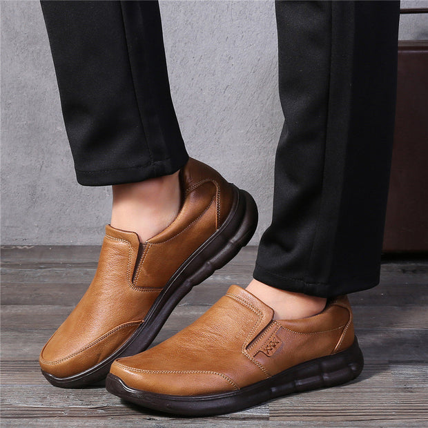Men's Old Peking Style Comfy Fabric Soft Slip On Casual Shoes