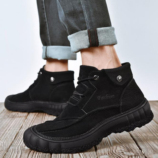 Men's casual leather boots Martin boots men's overalls shoes