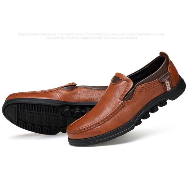 Men's Large Size Faux Leather Slip On Soft Casual Shoes