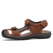Men's Three Hook Loop Toe Protection Outdoor Slip Resistant Hiking Sandals