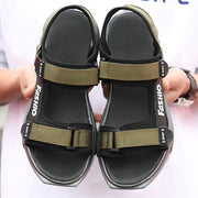 Men's Fabric Wearable Air-condition Hook Loop Casual Beach Sandals