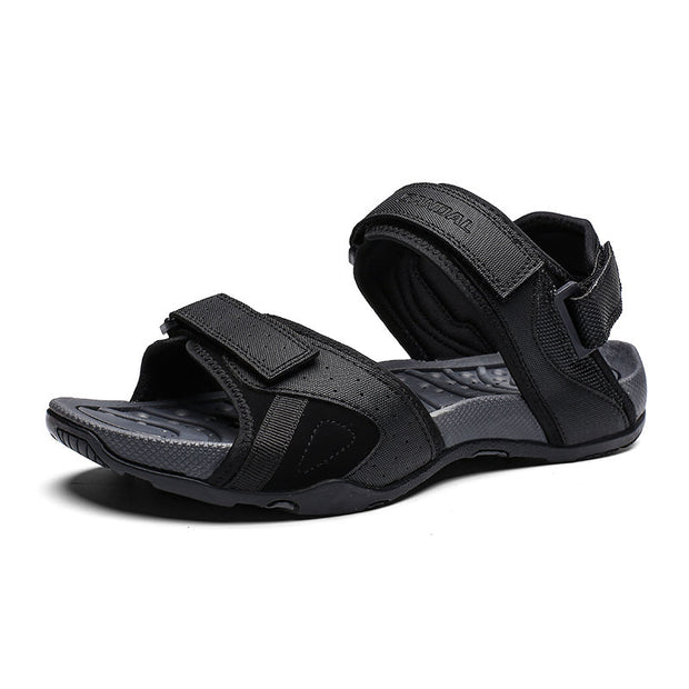 Men's Fabric Non Slip Hook Loop Soft Sole Outdoor Casual Sandals