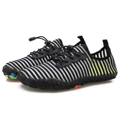 Men Breathable Striped Upper Sneaker Anti-slip Sports Shoe Wading Footwear