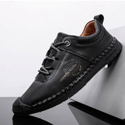 Men's leather shoes wear-resistant dress casual shoes British style youth breathable board shoes