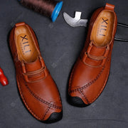 Genuine Leather Sewing Thread Casual Wearable Shoes for Men
