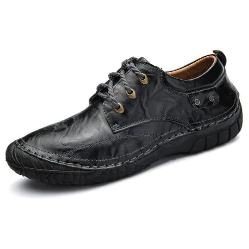 Men's Fashion All-match Leather Lace-up Shoes for Men