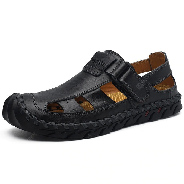 Men's Summer Hand Stitched Leather Sandals Breathable