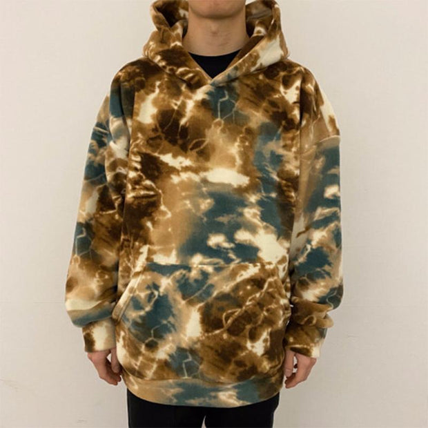 Men's Stylish Multicolor Tie-Dye Hoodie