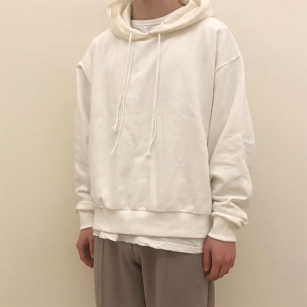 Men's Fashion Solid Drop Shoulder Hoodie