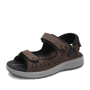 Men's sandals and slipperss fertilizer  Velcro leather sandals