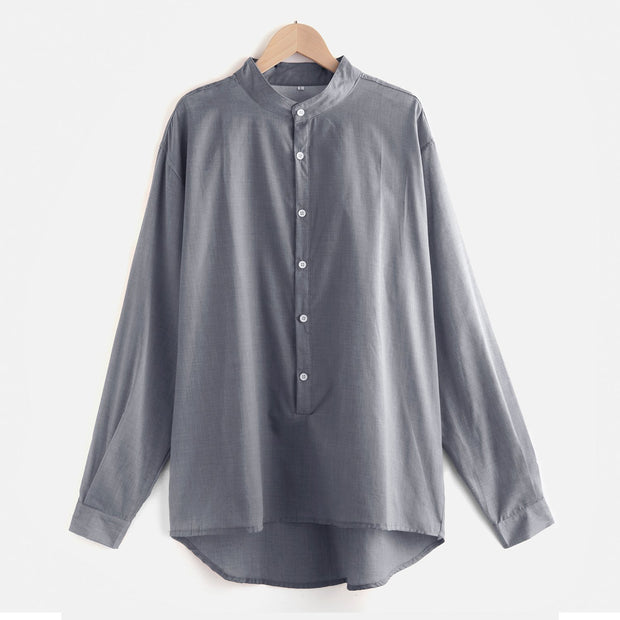 Men's Casual Losse Long Sleeve Comfort Shirts