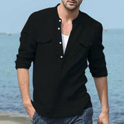 Men's shirts long-sleeved shirt male cotton shirt