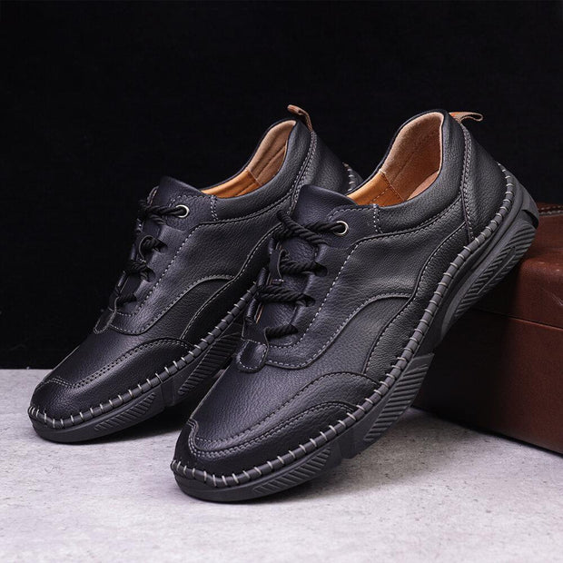 Men's  Hand Stitching Leather Non Slip Casual Shoes