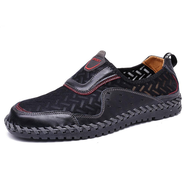 Men's Mesh Splicing Hand Stitching Casual Shoes