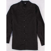 Men's Plain Stand Collar Vintage Loose Single-Breasted Shirt